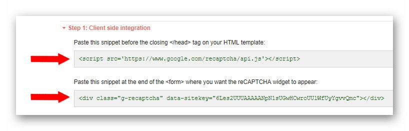 client side integration google recaptcha