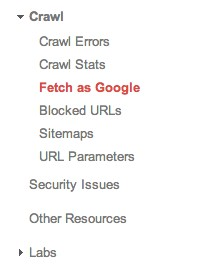 fetch as google در وبسمتر